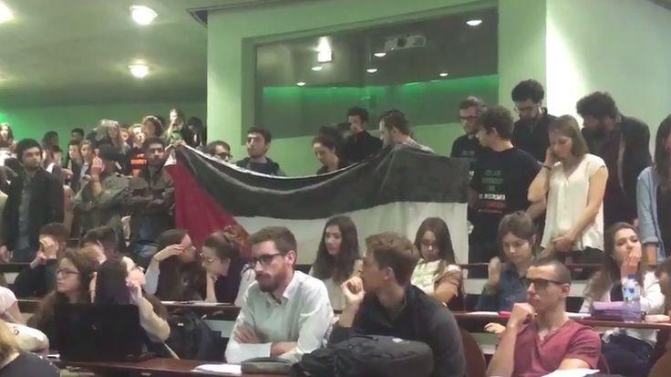 Aliza Bin-Noun, ambassadeur d'Israël en France, s'est exprimée dans un amphithéâtre quasiment vide à Science Po Rennes, la plupart des étudiants ayant quitté la salle en signe de protestation, avant de déclencher l'alarme incendie.
