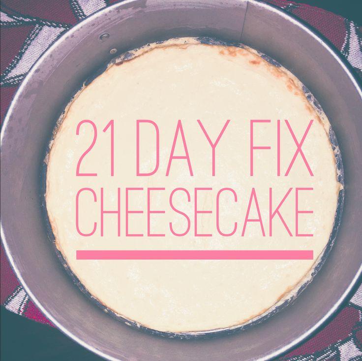 Valentine's Day Healthy Dessert: 21 Day Fix Cheesecake