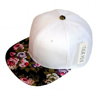 Floral Snapback White - I don't even wear hats but this is cute!