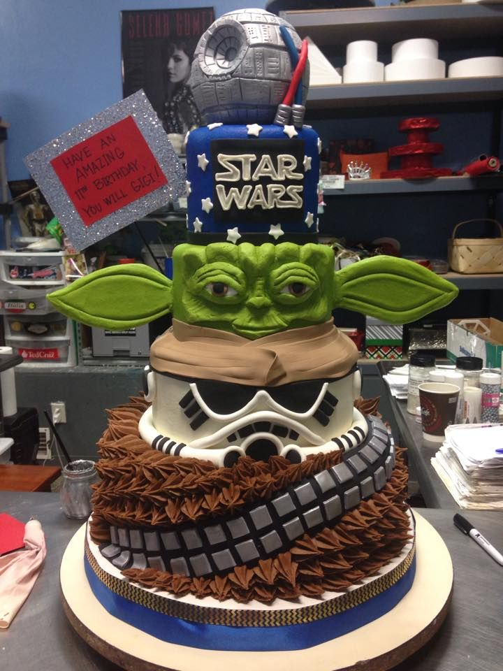 Star Wars Tiered Cake - Adrienne & Co. Bakery