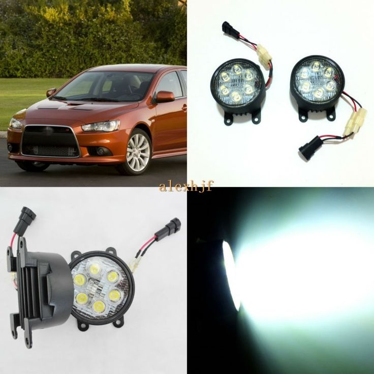 (69.99$)  Know more - http://ailtt.worlditems.win/all/product.php?id=32800916777 - July King 18W 6LEDs H11 LED Fog Lamp Assembly Case for Mitsubishi Lancer 2010~2015 etc, 6500K 1260LM LED Daytime Running Lights