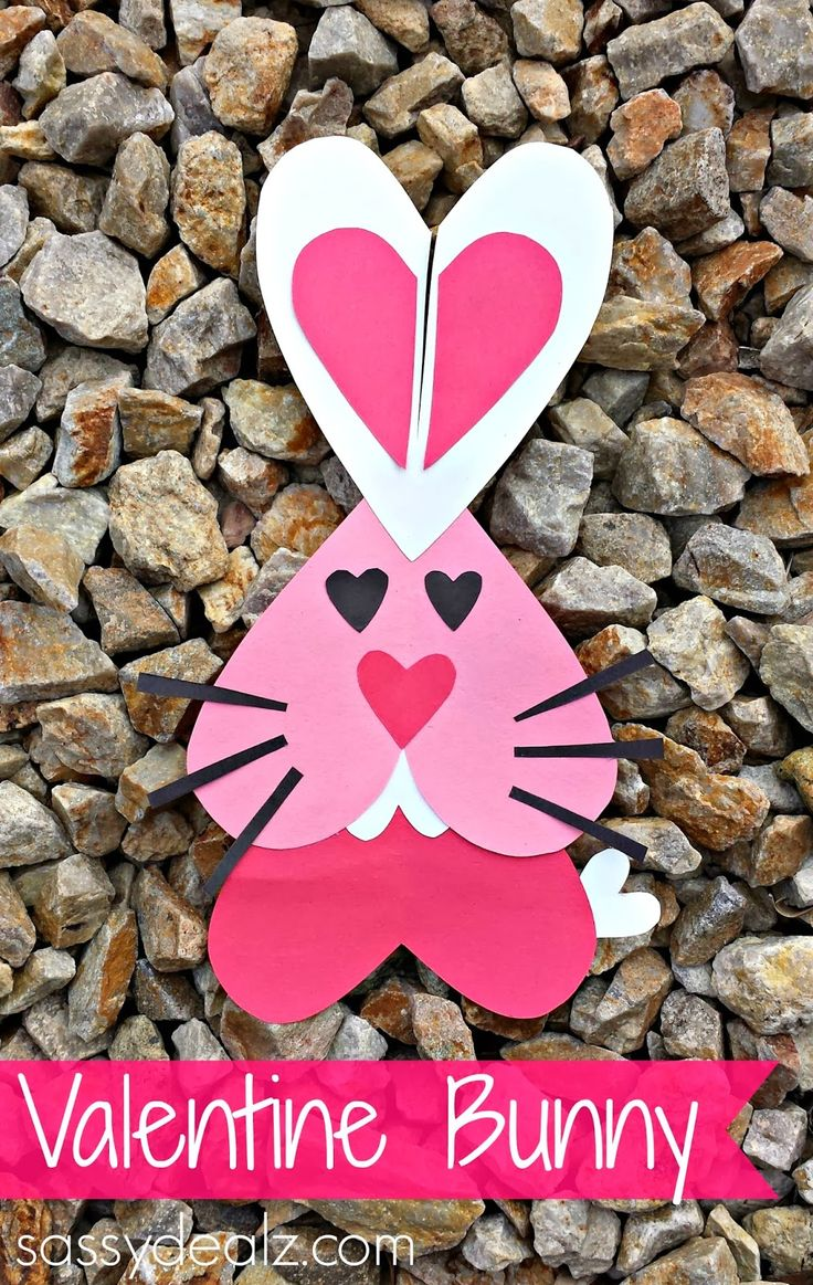 Craft ideas for valentines day - Heart Bunny Rabbit Craft For Kids Valentines Day Craft For Kids Heart Animal
