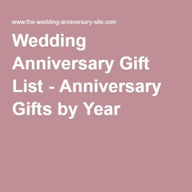 Wedding Anniversary Gift By Year List : Gift By Year on Pinterest Anniversary by year, 10th wedding ...