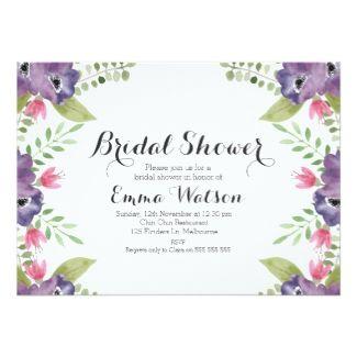 21 best boho weddings images on pinterest boho wedding watercolor anemones bridal shower invitation stopboris Images
