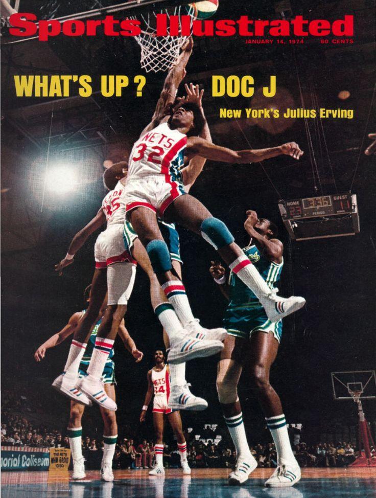 NBA ABA Sport Illustrated Jan 14 1974 Julius Erving