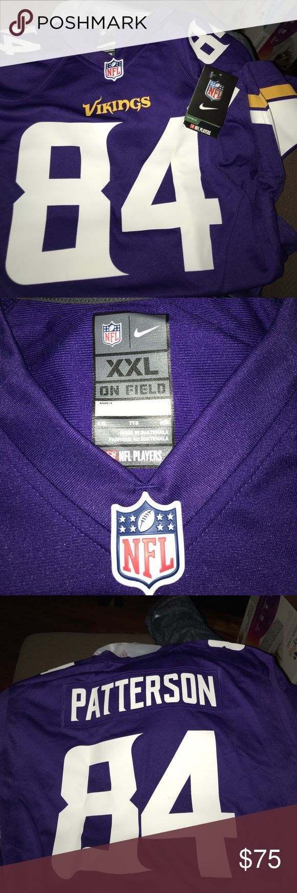 Nike NFL vikings jersey NWT Size xxl, brand new Nike NFL vikings jersey NWT Size xxl, brand new Nike Shirts Tees - Long Sleeve