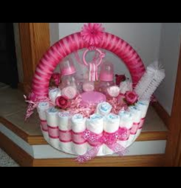 Shower Basket!! Bottles, diapers, the whole nine yards!!! It's so cool!!