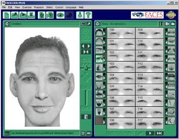 Screenshot of Faces EDU forensic software program