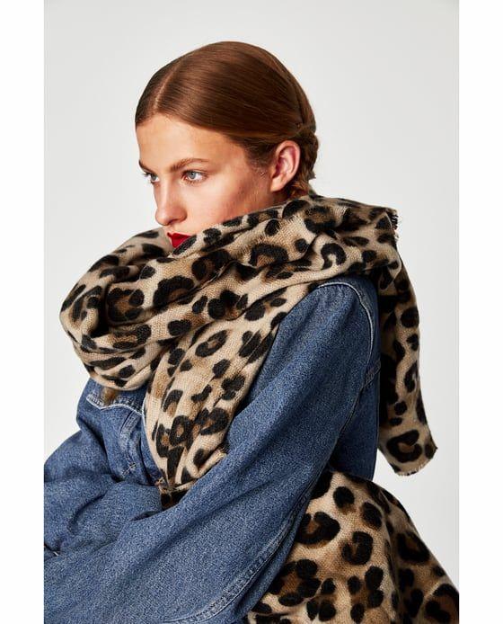 Spiksplinternieuw SJAAL MET DIERENPRINT van Zara - € 19,95   Want it! in 2019 HF-17