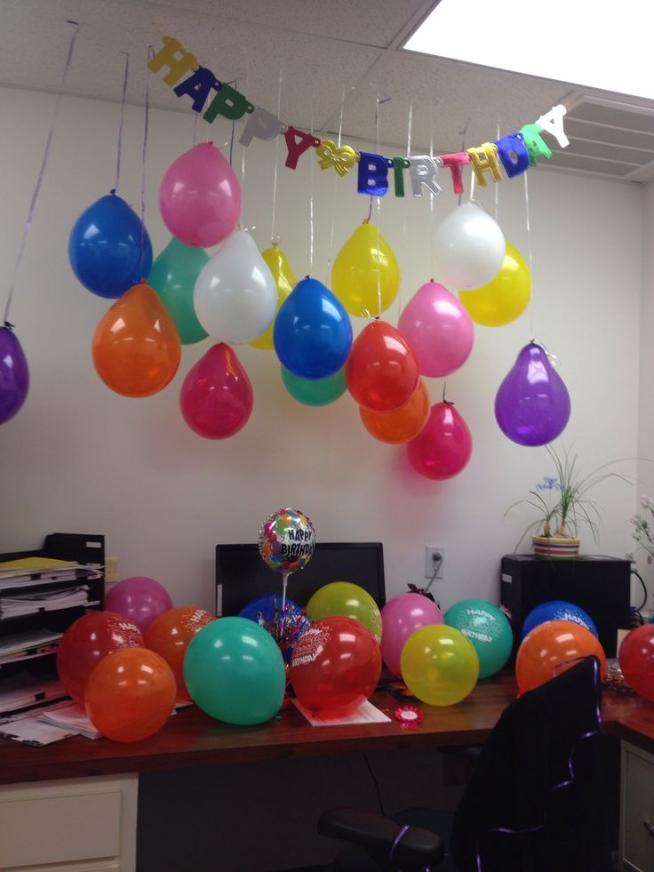 Birthday decoration for an office creativity art - Decoracion de oficinas ...