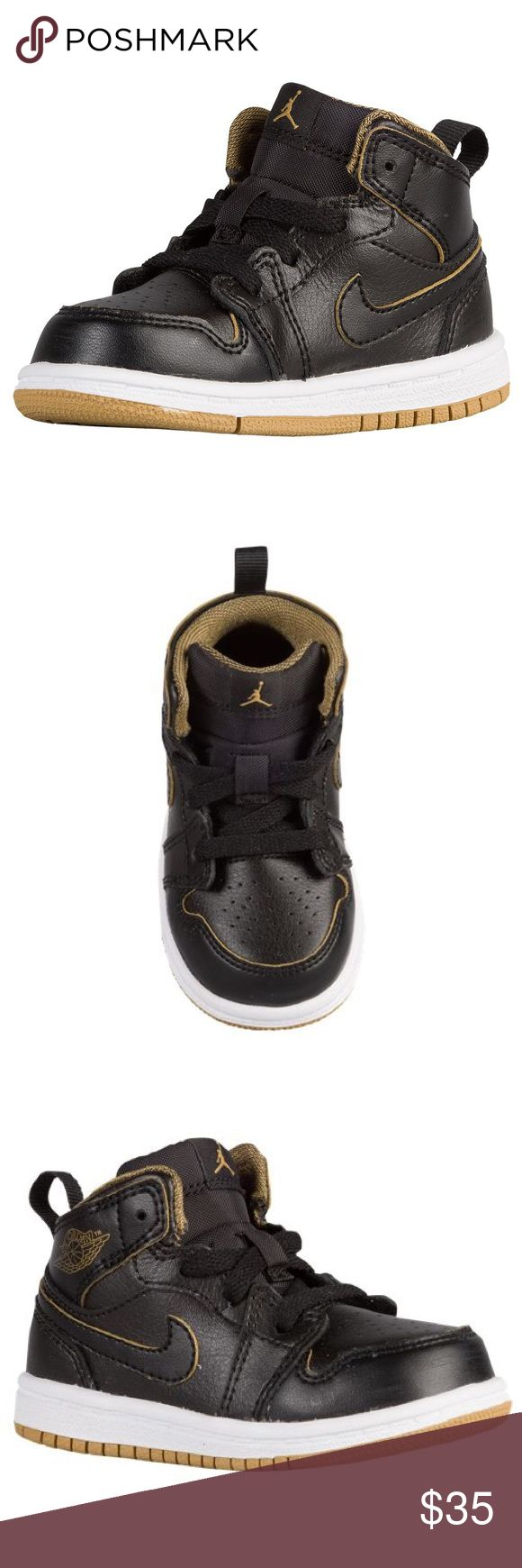 JORDAN AJ1 MID Toddler Only worn a few times. Great condition!! Combination of leather and synthetic materials in the upper to deliver a supportive fit. Cushioned, supportive comfort with a protective cupsole construction and solid rubber outsole that delivers traction. Jordan Shoes Sneakers