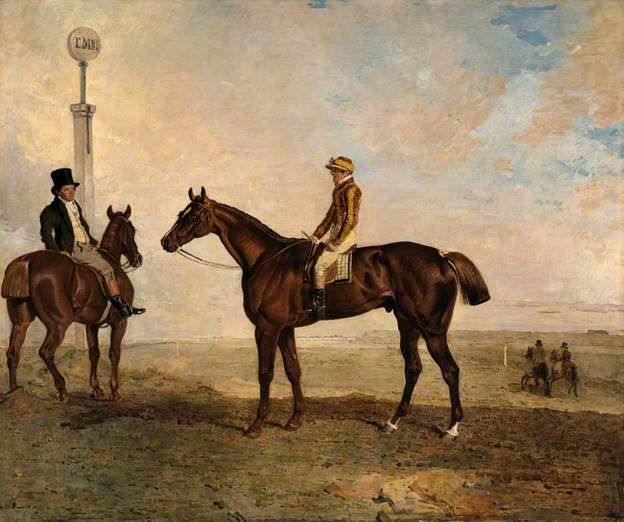 The Duke of Richmond's 'Rough Robin' with the Jockey Frank Buckle Up, 1830, by Benjamin Marshall