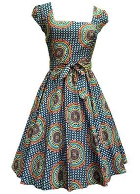 Hippy Print Summer Swing Dress