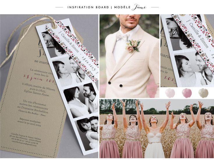 Faire-part de mariage M42-001 board inspiration