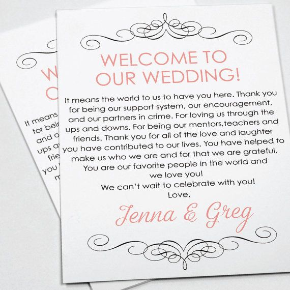 The 25+ best Wedding welcome letters ideas on Pinterest Welcome - welcome letter