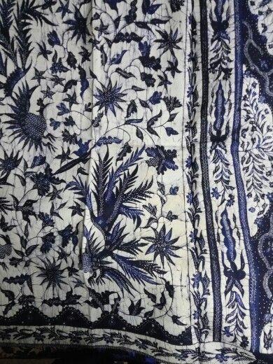 Batik madura east java quite rare with blue porcelain color simply beautiful.