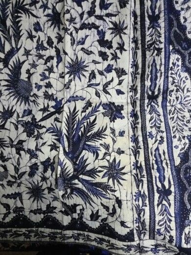 Batik madura east java quite rare with blue porcelain color simply beautiful.