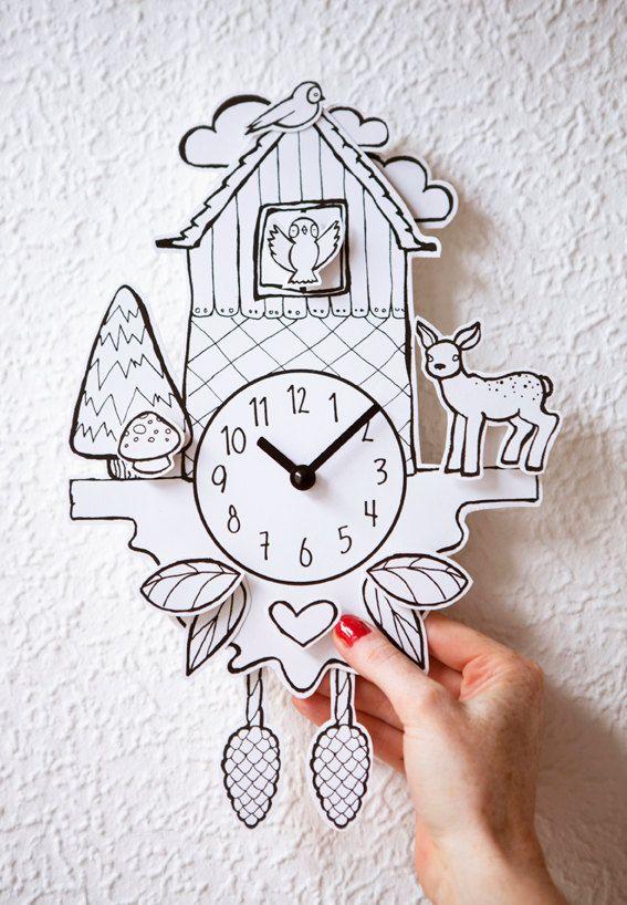 Paper Cuckoo Clock por hellopetie en Etsy, €23.90