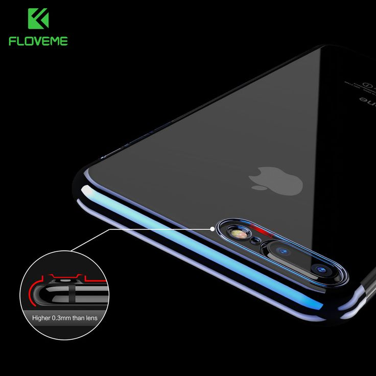 apple iphone 7 transparent price. price tracker and history of floveme camera protect transparent tpu case for iphone 7 three holes plated clear ultra thin back cover apple iphone