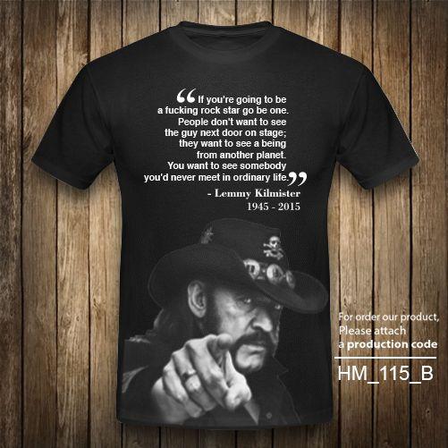 LEMMY IAN MOTORHEAD Quote T-Shirt Heavy Metal Vintage Retro Rock Black XS-2XL #Unbranded #GraphicTee