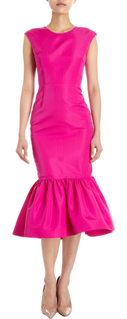 Katie Ermilio Peplum Gown