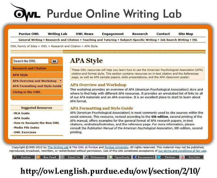 cite website research paper apa