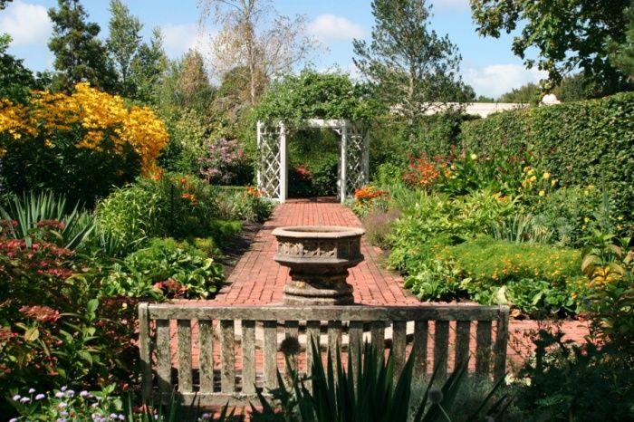 English Flower Garden at Hamilton Gardens in Hamilton, New Zealand.