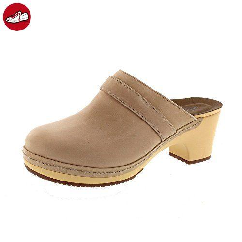 CROCS Damenschuhe - SARAH LEATHER CLOG - sand, Schuhgröße:EUR 39-40 (*Partner-Link)