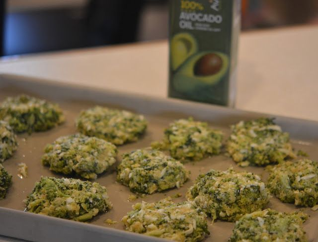 CHEESY BROCCOLI BITES WITH AVOCADO CREAM DIPPING SAUCE....GOOD EATS RIGHT HERE!!!