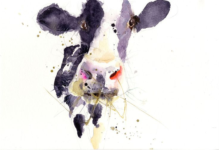 signed LIMITED EDITON PRINT Dairy Cow by Jen Buckley