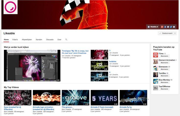 Het #YouTube kanaal van #LikeableDesign