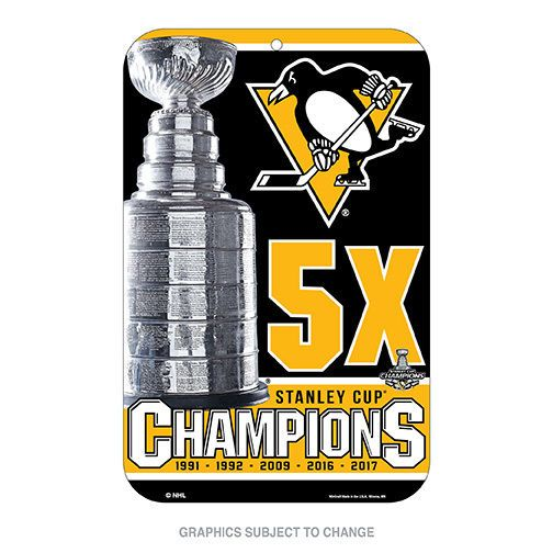 2017 NHL Stanley Cup Champions Pittsburgh Penguins Locker Room Sign 11x17  5x #WinCraft #PittsburghPenguins