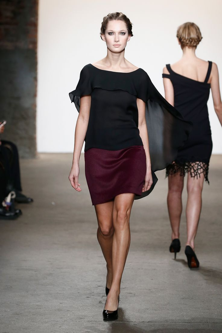 Sustainable fashion in nyc - Fluttery Chiffon Top At Minan Wong S Fw16 Runway Show Sustainable Fashion Nolcha Shows