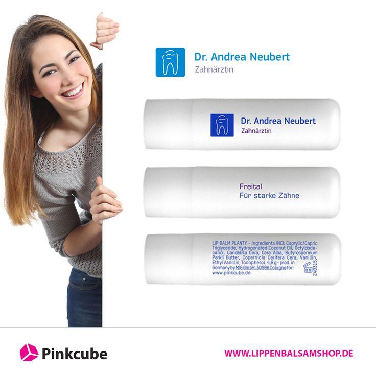 #Labellos und #Lippenpflegestifte sind bei Zahnärzten beliebte #Werbeartikel. So bestellte auch Zahnärztin Dr. Andrea Neubert Lippenpflegstifte als Werbeartikel im #Pinkcube www.lippenbalsamshop.de für ihre Kunden. Wir wünschen der Zahnarztpraxis Neubert viel Erfolg bei der Pflege ihrer Kunden mit den neuen Lippenpflegestiften.  http://www.lippenbalsamshop.de/lippenpflegestifte-fuer-zahnaerztin-mit-logo-bedruckt