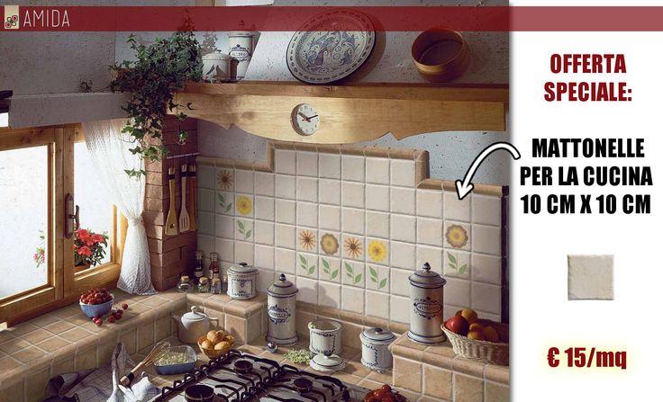 Voglia di rinnovare la cucina con uno stile rustico? Scopri le offerte di Amida sui rivestimenti per cucine qui http://www.amidaceramiche.it/rivestimento-cucina/