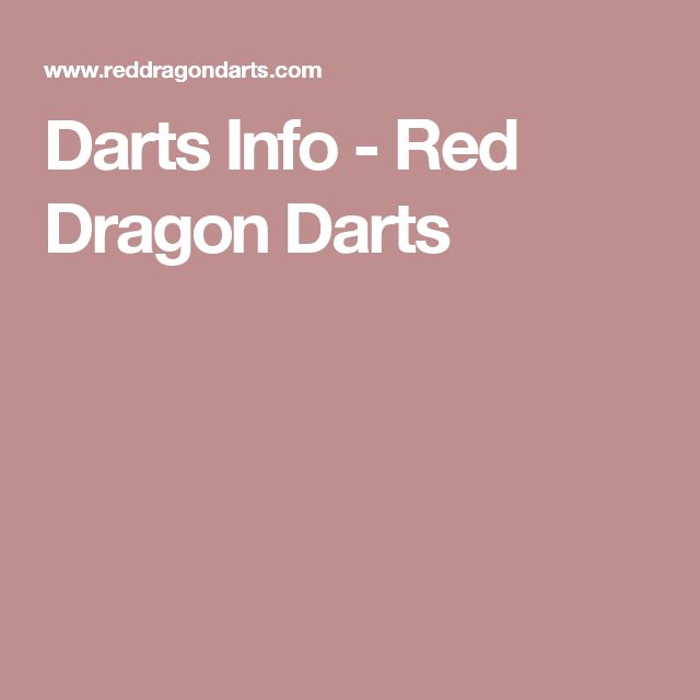 Darts Info - Red Dragon Darts