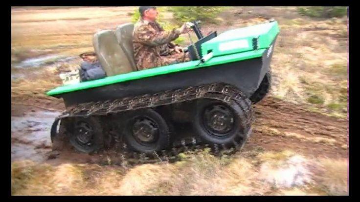 Вездеход Охотец с расширителями по болоту в Сургуте
