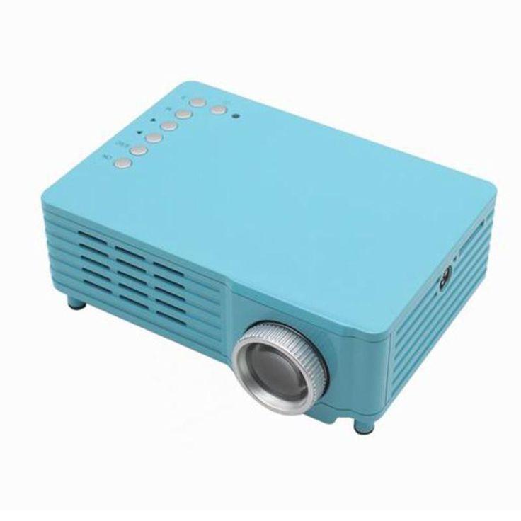 Top Quality GP8 LCD LED 1080 P Video Full HD Portable Mini 3D Projector Home Theater HDMI AV VGA SD USB FE2 5 Colors