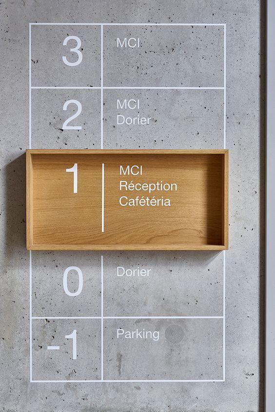 Office signage.