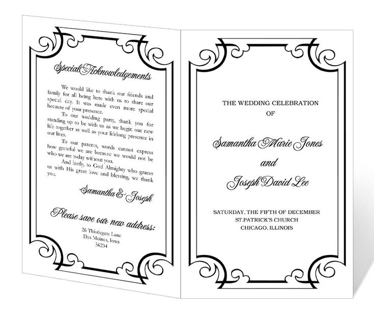 84 best Wedding programs images on Pinterest Wedding stuff - sample program templates