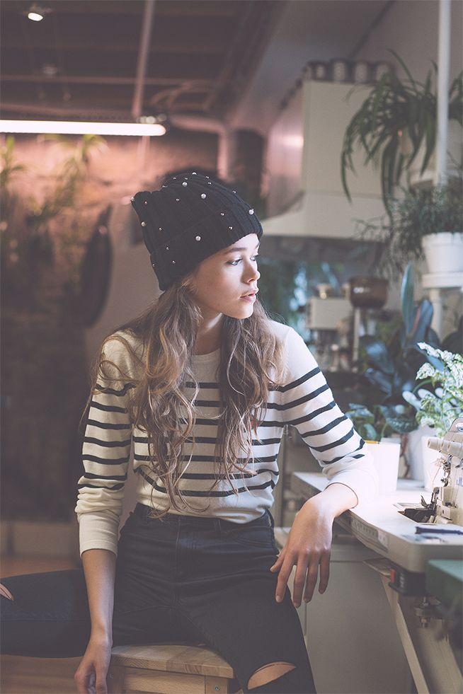 #stripes#whiteandblack#black#hat