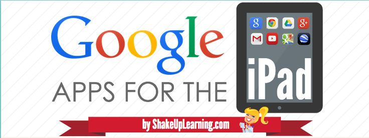 Google Apps for the iPad and iOS (The COMPLETE List!) | www.ShakeUpLearning.com #ded318