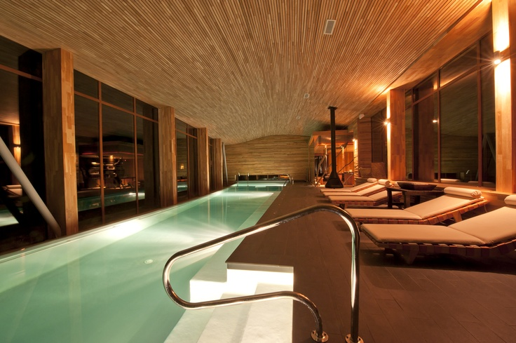 Amazing indoor pool at Tierra Patagonia Hotel & Spa