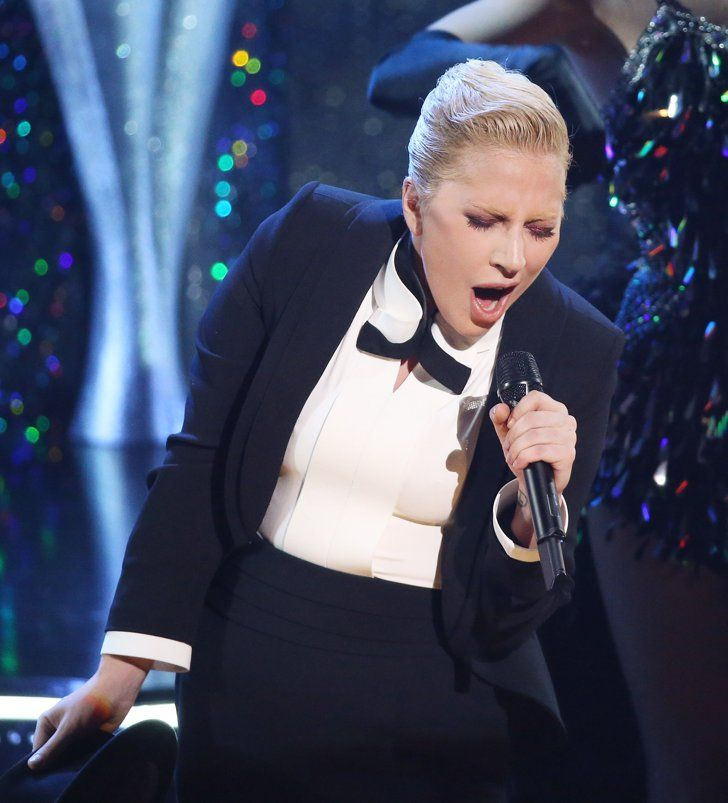 Pin for Later: Stars Suit Up and Hit the Stage to Pay Tribute to Frank Sinatra  Pictured: Lady Gaga