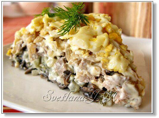 Вкусный салат с мясом. Рецепт c фото, мы подскажем, как приготовить!