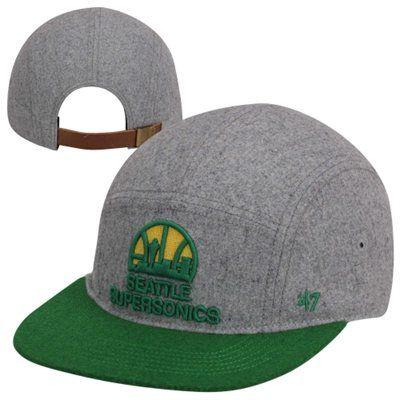 '47 Brand Seattle SuperSonics Hardwood Classics Croft Adjustable Hat - Gray/Green
