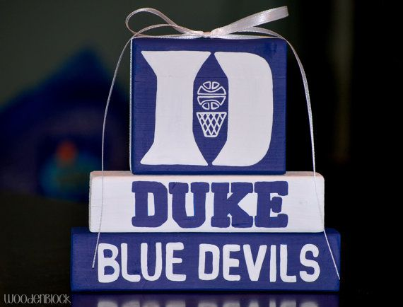 Duke Blue Devils WoodenBlock Shelf Sitter Stack