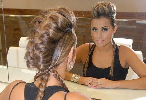 Cool french braided mohawk! Would love to do on someone with long