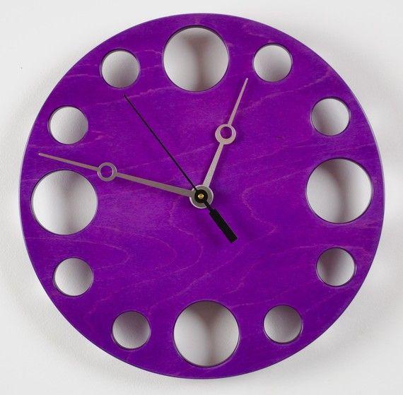 FUN POP Clock in Purple 10 by whitevan on Etsy, $145.00 and in this purple treasury http://www.etsy.com/treasury/OTgxMjA1MnwyNzIwNDI5NjUz/purple-haze