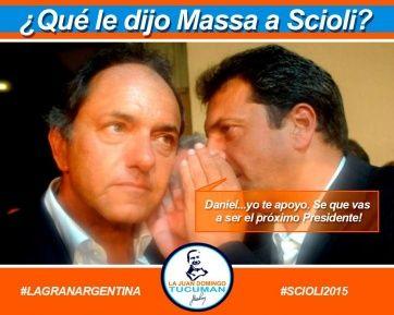@RevistaLaTecla: ¿En 2015, Massa apoya a Scioli? #LaGranArgentina #Scioli2015